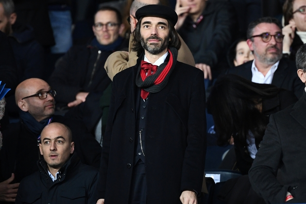 Cédric Villani assiste à un match PSG-OM le 17 mars 2019 au Parc des Prince
