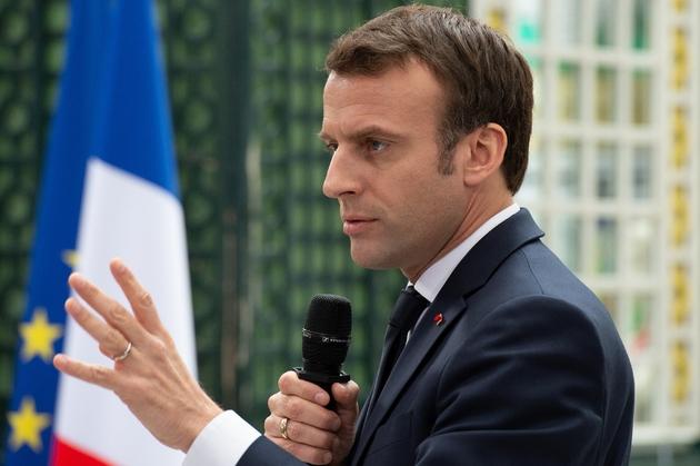 Le président Emmanuel Macron lors du grand débat à Bordeaux le 1er mars 2019
