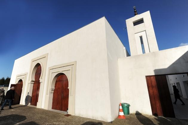 La mosquée de Bayonne où deux fidèles ont été blessés lundi par un ancien candidat du Front national, à Bayonne, le 5 mars 2015