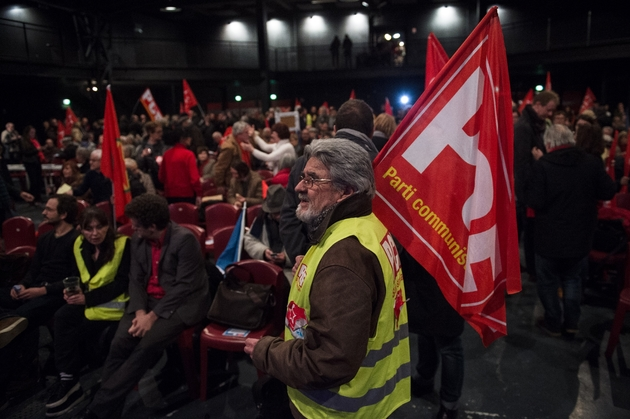 Meeting du PCF à Marseille pour le lancement de la campagne des Européennes, le 5 février 2019