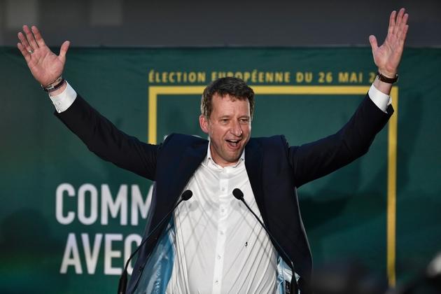 Yannick Jadot célèbre les résultats d'EELV aux Européennes, le 26 mai 2019 à Paris