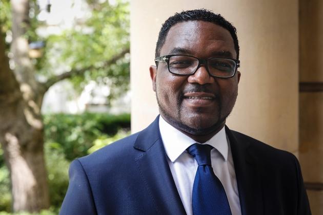 Le député de La République en Marche Rodrigue Kokouendo à l'Assemblée nationale le 22 mai 2017