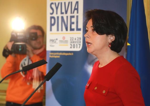 Sylvia Pinel lors de la présentation de son programme le 5 janvier 2017 à Paris