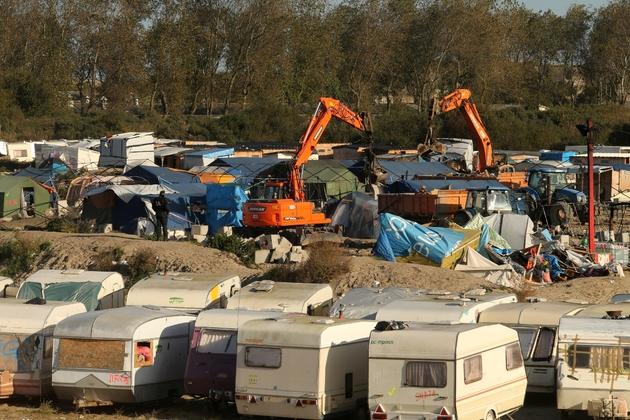 """Démantèlement de la """"Jungle"""" le 28 octobre 2016 à Calais"""