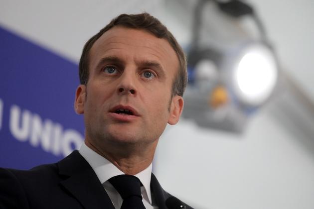 Emmanuel Macron lors d'un sommet européen à Sibiu, en Roumanie, le 9 mai 2019