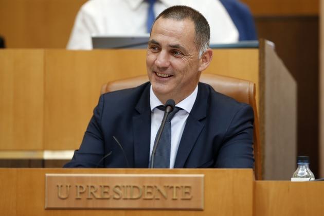 Le président du Conseil exécutif de Corse Gilles Simeoni, à Ajaccio, le 28 juin 2018.