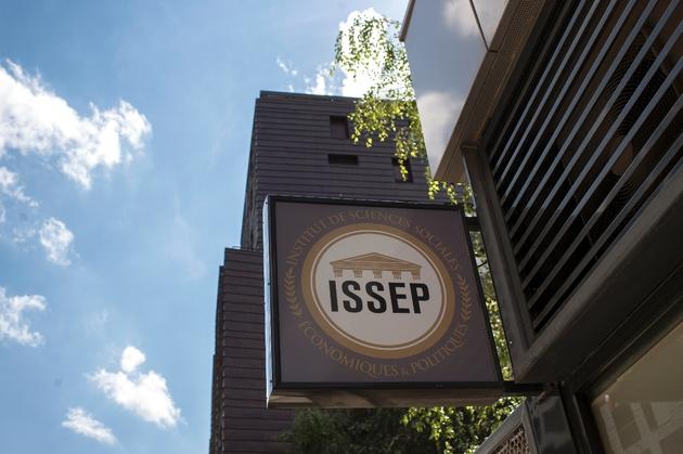 Enseigne de l'nstitut de Sciences Sociales Economiques et Politiques (Issep) fondé par Marion Maréchal à Lyon. Photo prise le 21 juin 2018