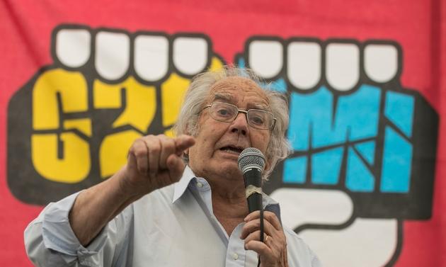 Le Prix Nobel de la Paix argentin Adolfo Perez Esquivel, le 29 novembre 2018 à Buenos Aires
