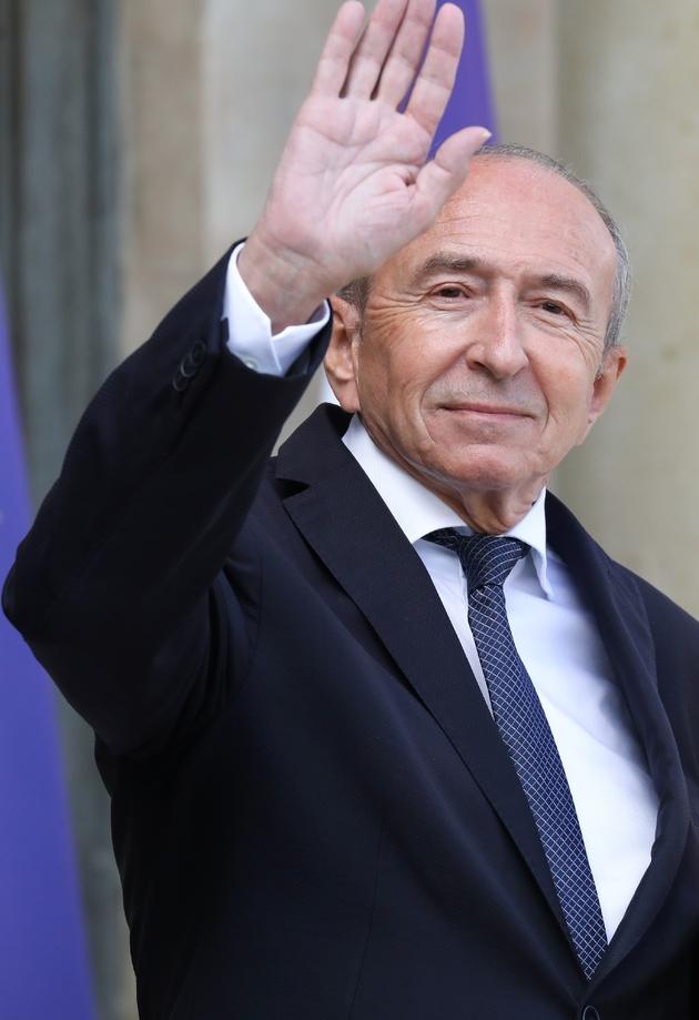 Gérard Collomb, encore ministre de l'Intérieur, quittant le palais de l'Elysée le 19 septembre 2018