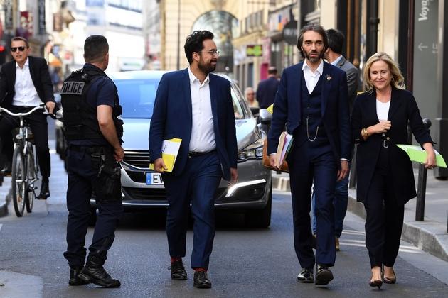 Le candidat à l'investiture LREM pour la mairie de Paris Cédric Villani le 9 juillet 2019 à Paris