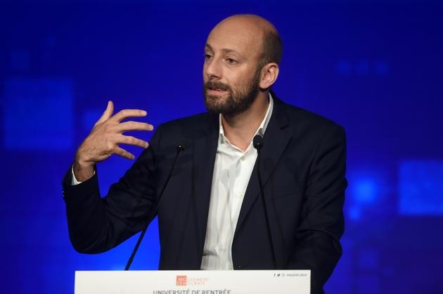 Le patron de LREM Stanislas Guerini à Guidel, le 29 septembre 2019