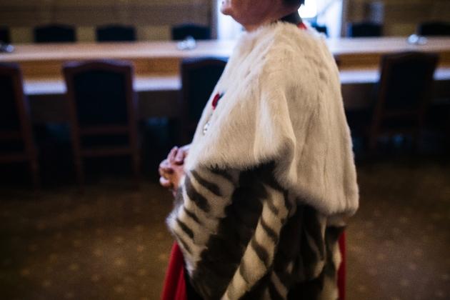 A la Cour de cassation, des hauts magistrats parés de pourpre, d'hermine et d'un sérieux à toute épreuve