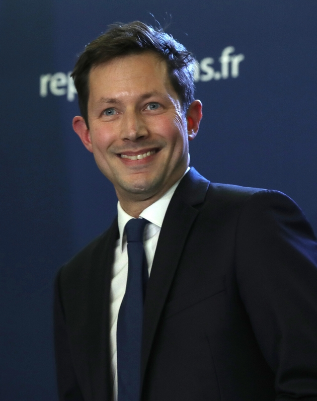 Francois-Xavier Bellamy, tête de liste LR aux européennes, le 26 mai 2019 à Paris
