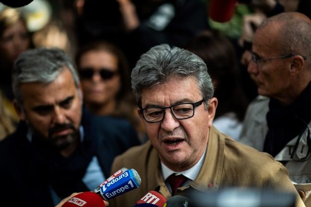 Jean-Luc Mélenchon s'exprime devant la presse le 20 septembre 2019 à Bobigny après avoir comparu devant la justice
