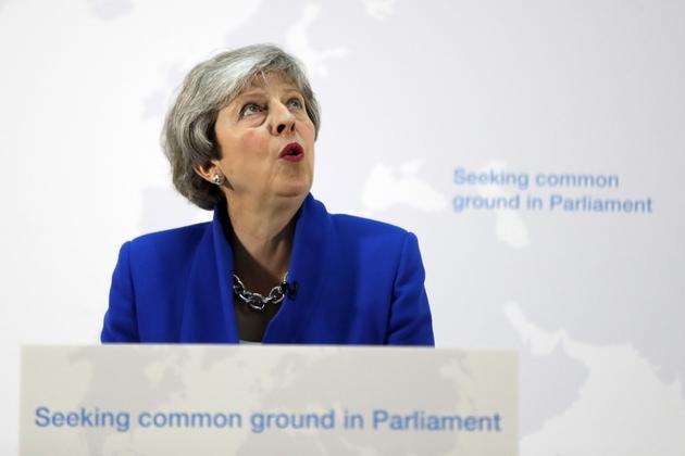 La Première ministre britannique Theresa May, le 21 mai 2019 à Londres