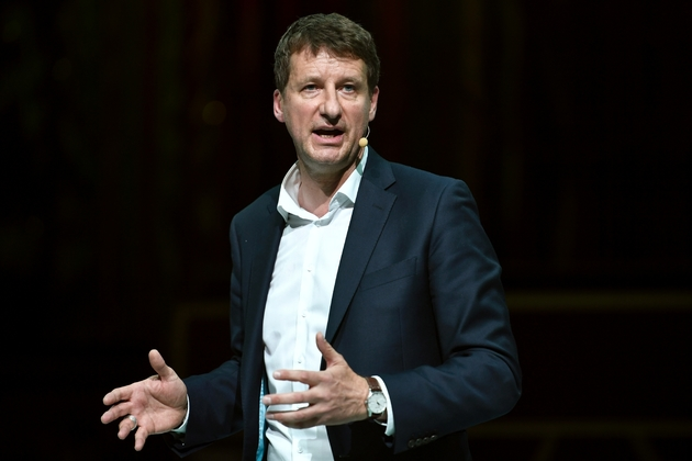 Yannick Jadot,  tête de liste EELV,, le 21 mai 2019 à Paris