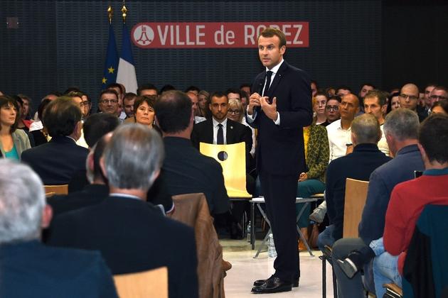 Emmanuel Macron à Rodez, le 3 octobre 2019