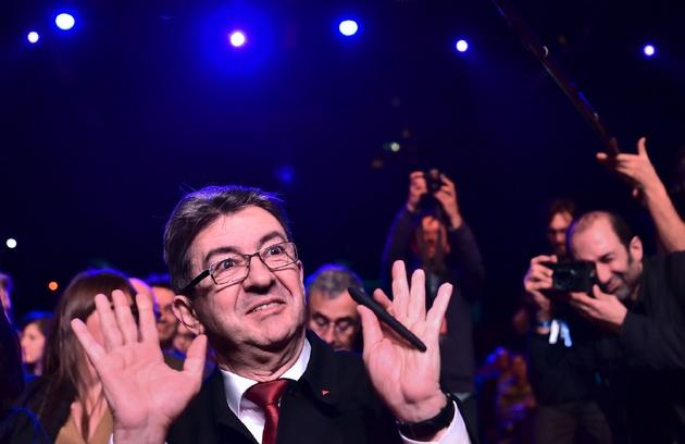 Le candidat de La France insoumise Jean-Luc Mélenchon à La Défense, le 31 janvier 2017