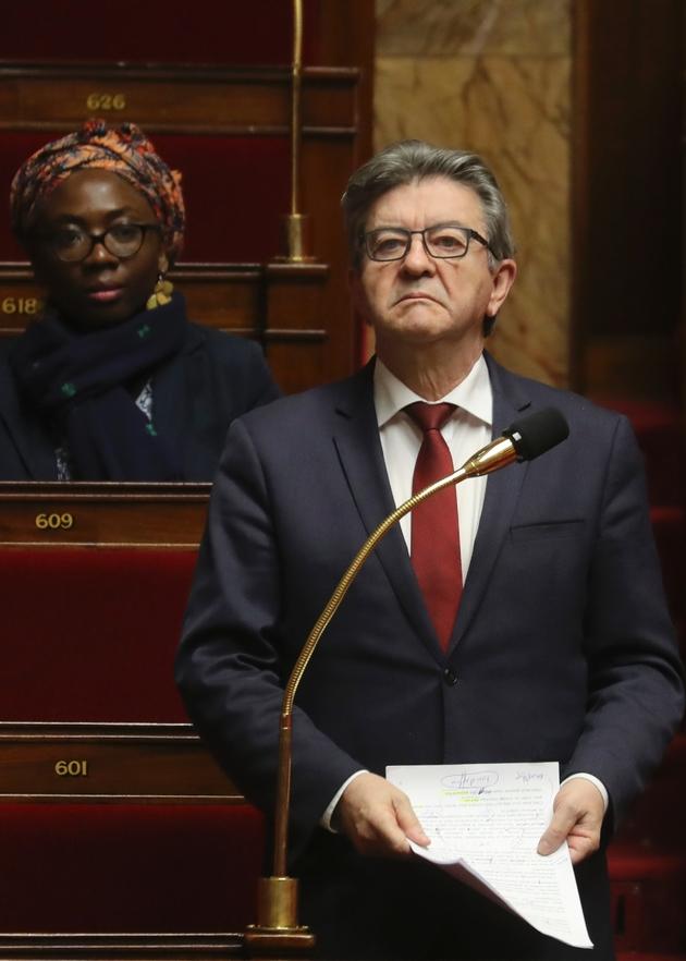 Jean-Luc Mélenchon à l'Assemblée nationale le 22 mars 2020