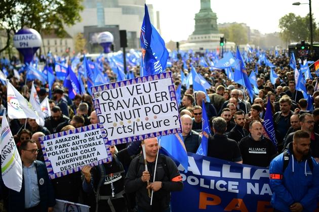 Manifestation de policiers le 2 octobre 2019 à Paris