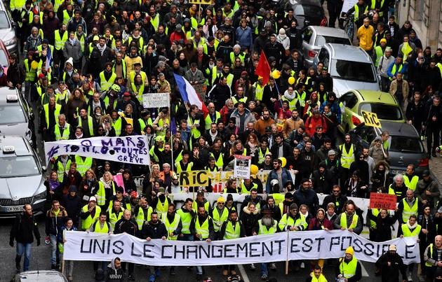 """Manifestation de """"gilets jaunes"""", le 9 mars 2019 à Bordeaux"""