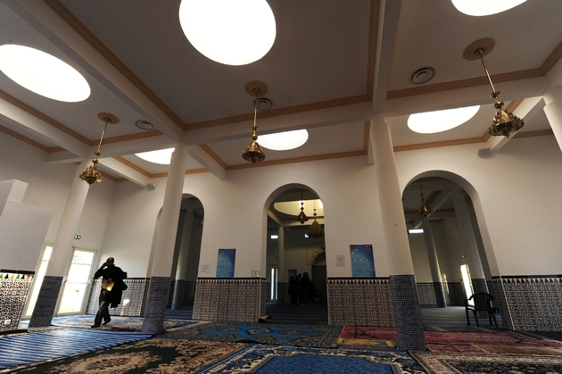 Photo de l'intérieur de la mosquée de Bayonne prise en mars 2015