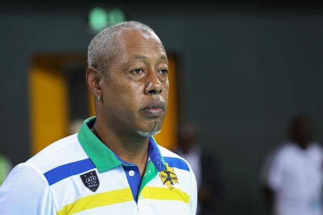 L'ancien handballeur Jackson Richardson, candidat aux municipales à Marseille, le 22 janvier 2018 à Libreville