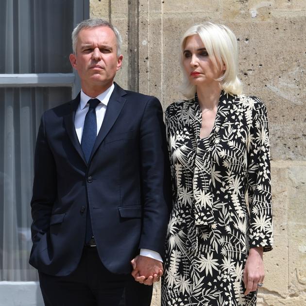 François de Rugy et son épouse au ministère de l'Environnement, le 17 juillet 2019