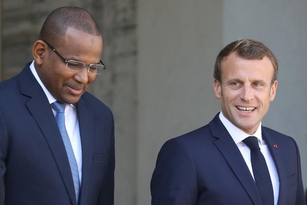 Le président Emmanuel Macron reçoit le Premier ministre malien Boubou Cissé à l'Elysée, le 10 septembre 2019 à Paris
