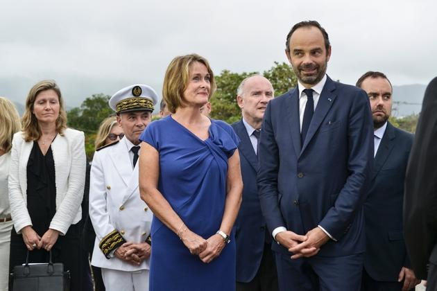 Isabelle Lafleur, élue Les Républicains Calédoniens au Congrès, et le Premier ministre français Edouard Philippe à Nouméa le 2 décembre 2017