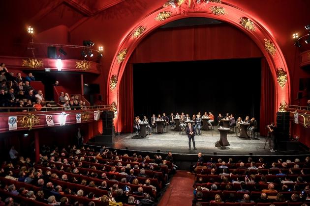Jean-Luc Mélenchon en meeting au théâtre Sébastopol à Lille, le 30 octobre 2018
