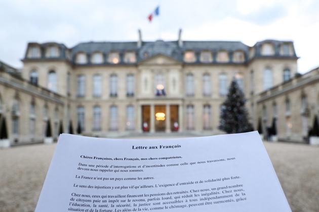 """""""Lettre aux français"""" d'Emmanuel Macron, en janvier 2019"""