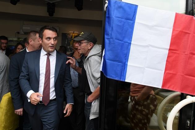 Le président des Patriotes, ancien bras droit de Marine Le Pen, Florian Philippot, à Forbach le 2 septembre 2018