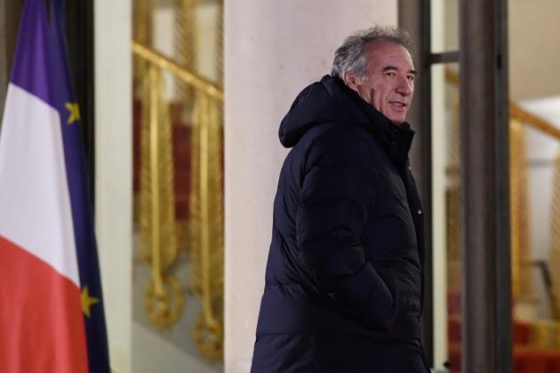 François Bayrou quitte l'Elysée après une réception, le 21 novembre 2018