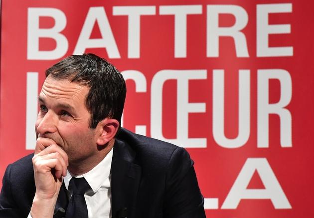 Benoît Hamon en meeting pour la primaire du PS, le 17 janvier 20174 à Bordeaux