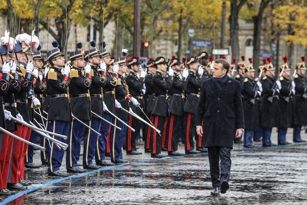Emmanuel Macron à Paris lors des cérémonies du 11 novembre 2019