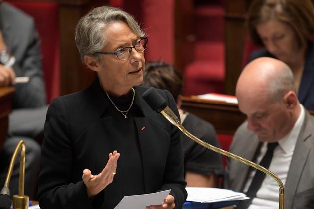 La ministre des Transports Elisabeth Borne à l'Assemblée nationale à Paris, le 18 juin 2019.