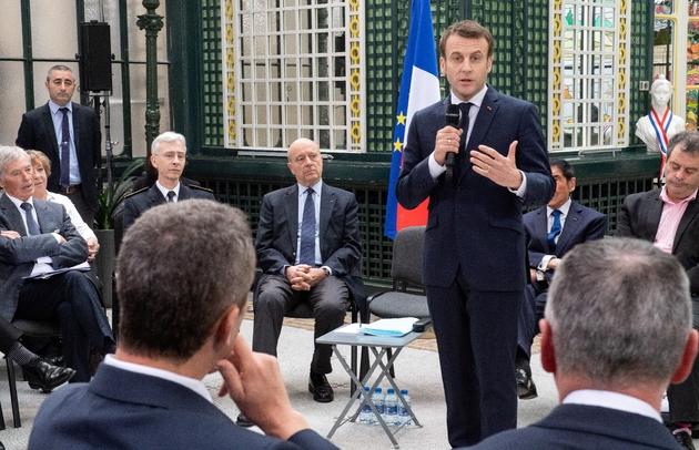 Emmanuel Macron à la préfecture de la Gironde à Bordeaux, le 1er mars 2019