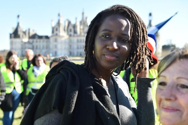 Priscillia Ludosky lors d'une manifestation le 23 février 2019