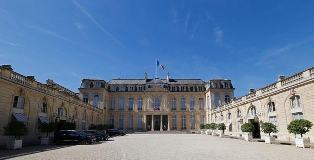 La cour du palais de l'Elysée, le 5 juillet 2019
