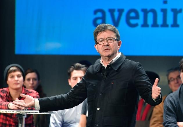 Jean-Luc Mélenchon, lors d'un meeting à Bordeaux, le 29 novembre 2016.