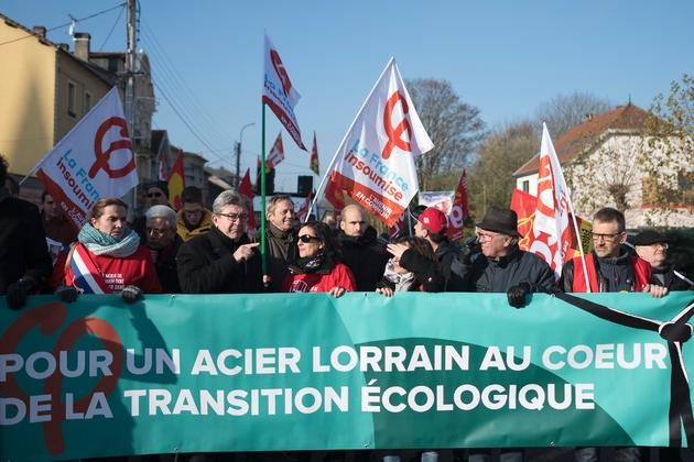 Jean-Luc Mélenchon a marché durant une heure au sein d'un cortège d'environ 200 personnes