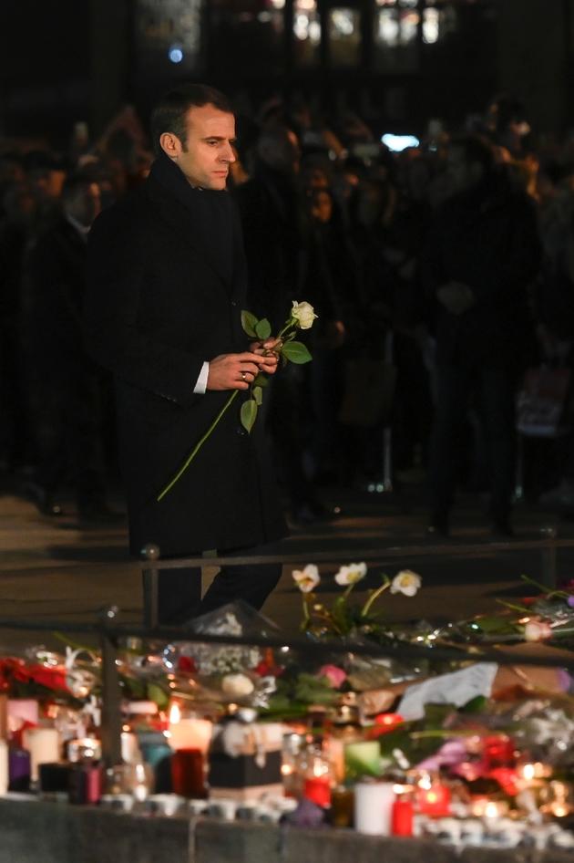 Le président français Emmanuel Macron à Strasbourg, le 14 décembre 2018