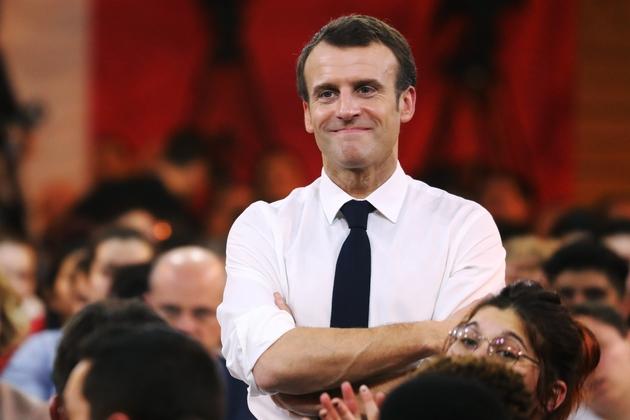 Emmanuel Macron lors du débat à Étang-sur-Arroux en Saône-et-Loire, le 7 février 2019