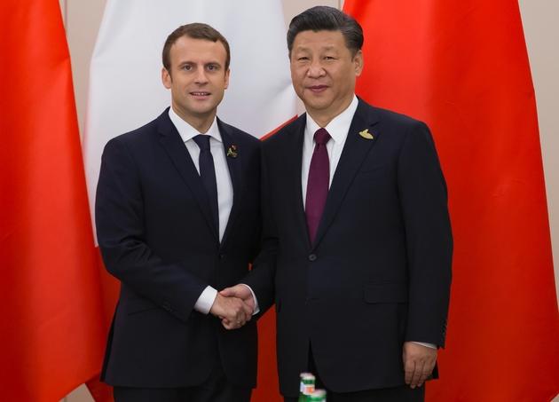 Le président Emmanuel Macron et son homologue chinois Xi Jinping, le 8 juillet 2017 à Hambourg