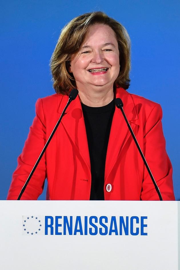 Nathalie Loiseau (LREM), tête de la liste Renaissance, en meeting à Caen, le 6 mai 2019