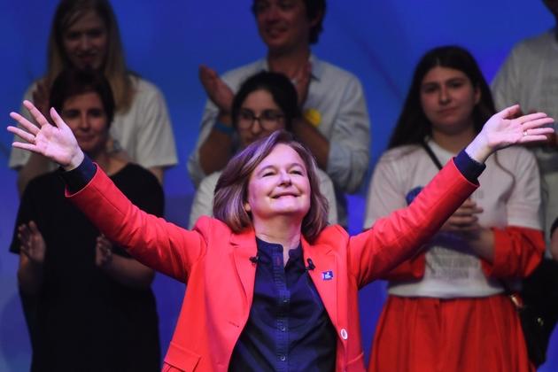 Nathalie Loiseau tête de liste La République en Marche (LREM), à laMutualité à Paris, le 24 mai 2019