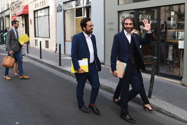 Le candidat à l'investiture LREM pour la mairie de Paris Cédric Villani au siège de LREM le 9 juillet 2019