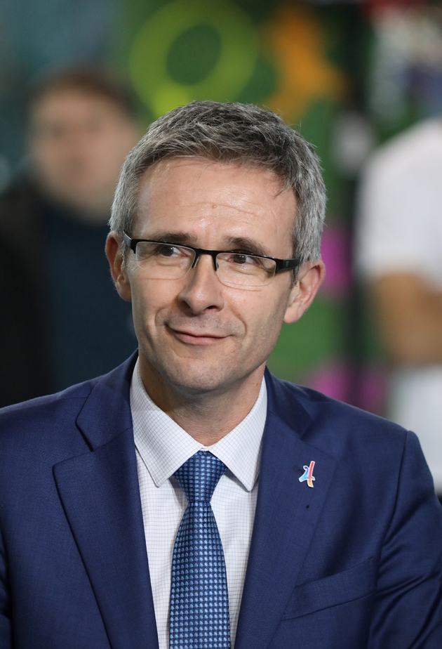 Le président (PS) du département de Seine-Saint-Denis, Stéphane Troussel le 27 février 2018 à Villetaneuse