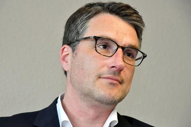 Le député LREM de Gironde Florent Boudié,ex-socialiste, candidat à la tête du groupe majoritaire face à Gilles Le Gendre, dans le cadre du remaniement interne de mi-mandat. Photo prise le 11 mai 2017 à Bordeaux